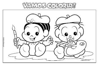 100 desenhos da Turma da Mônica para colorir!