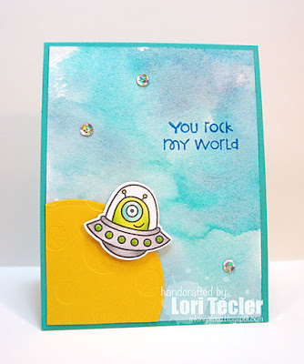You Rock My World card-designed by Lori Tecler/Inking Aloud-stamps from Paper Smooches