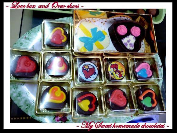 Love box dan Coklat oreo dengan pelbagai design