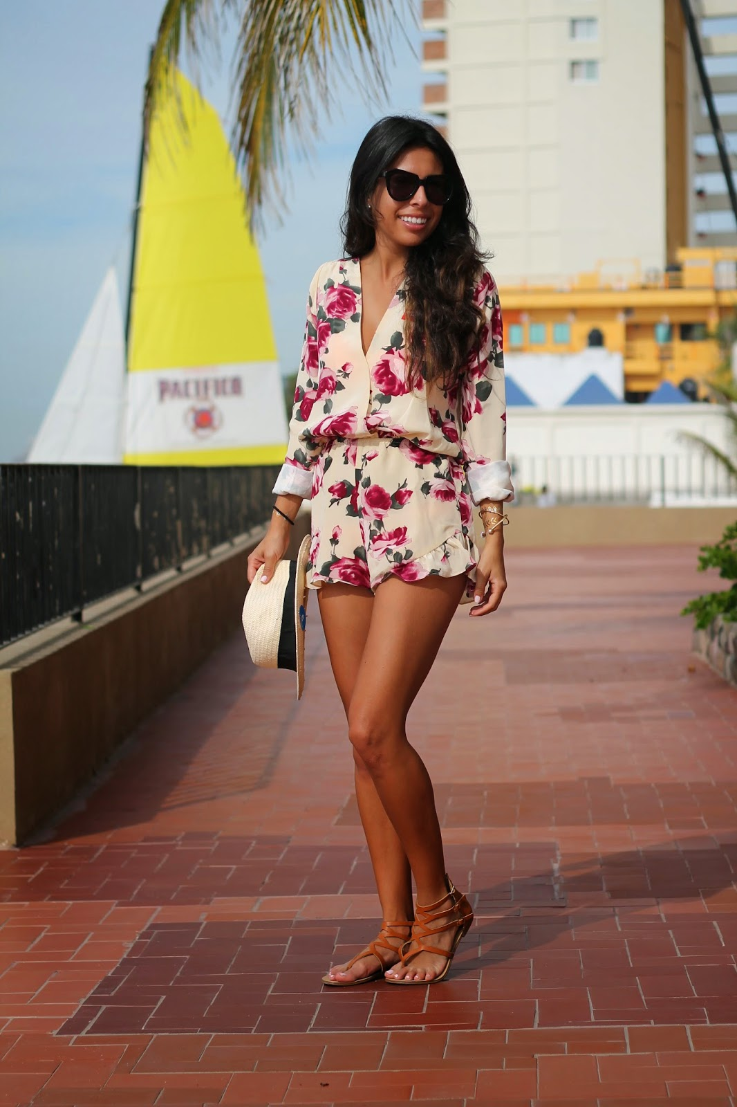 stone cold fox romper, how to style a romper, mexico vacation outfit