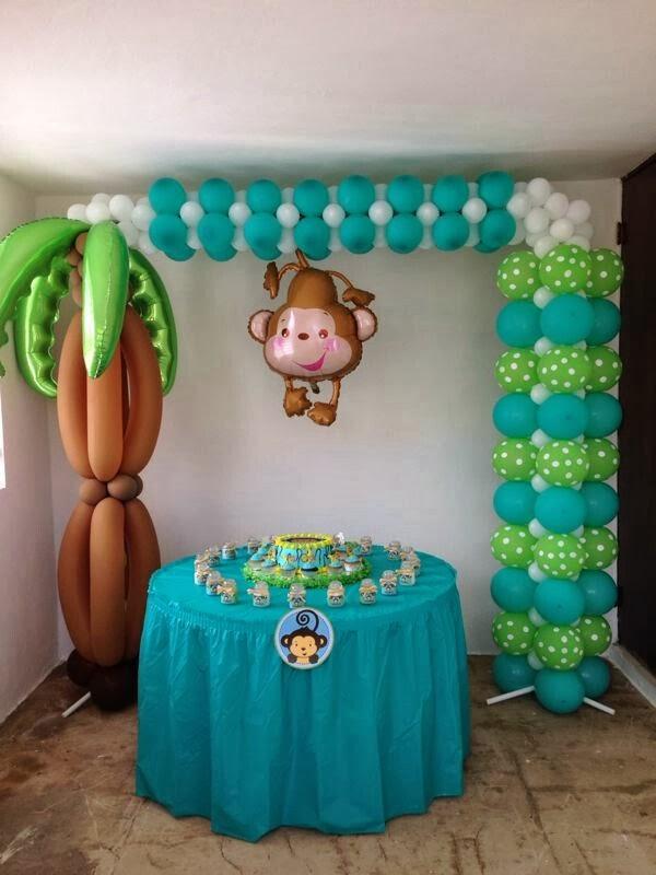 Fotos de decoraci n con globos para fiestas infantiles for Decoracion con fotografias