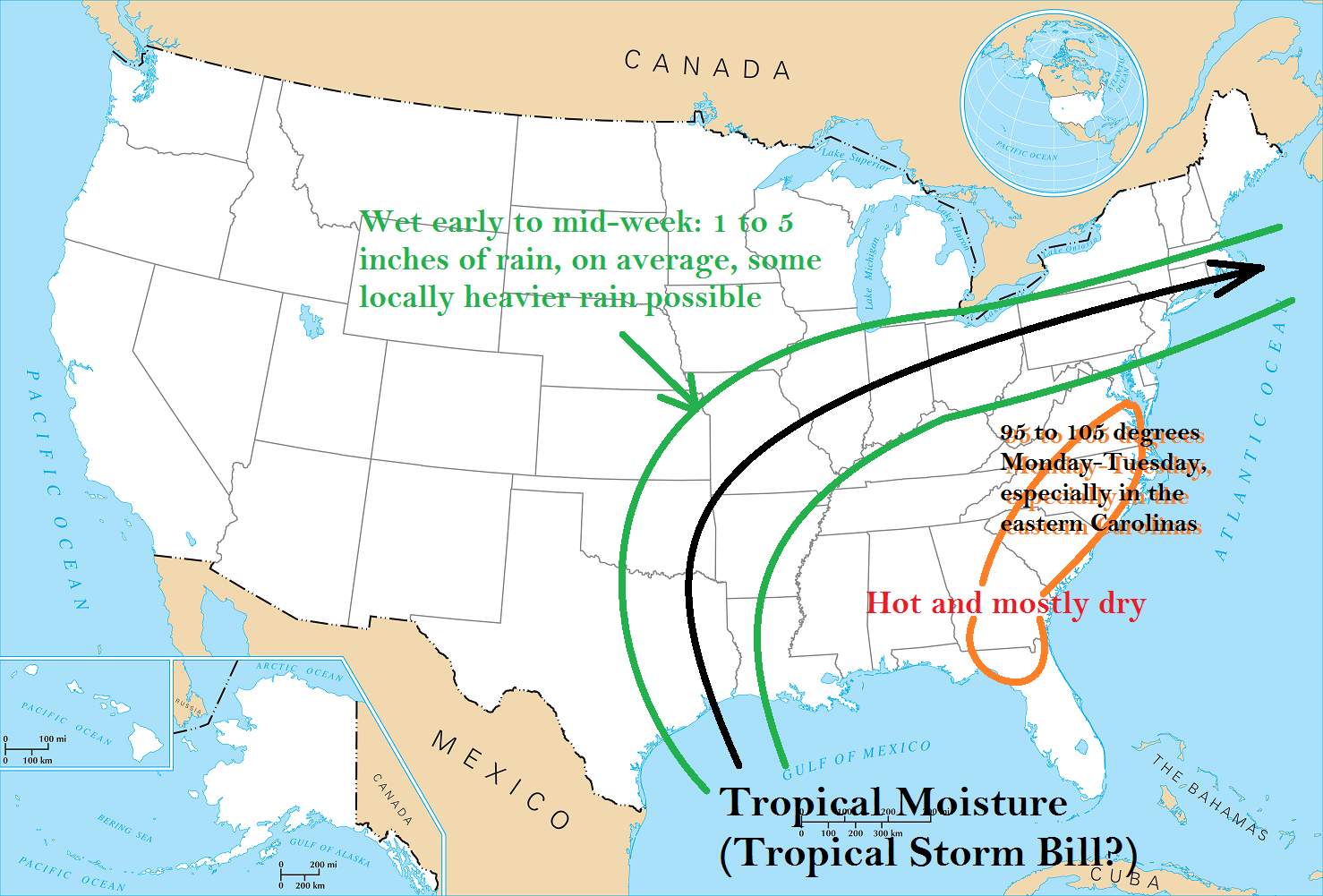in summary this is what to watch for through the middle of next week in the eastern u s