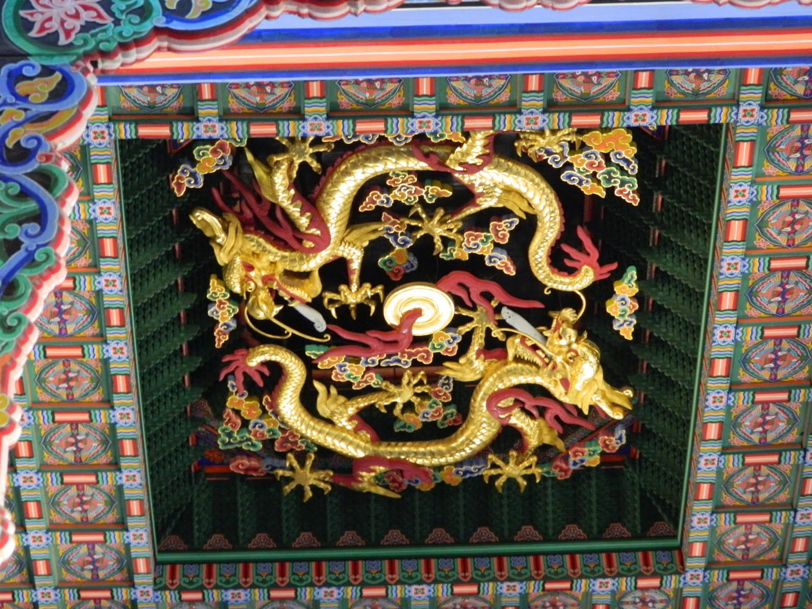 The golden dragon, symbol of good luck at Gyeongbokgung