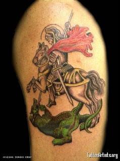 fotos e imagens de Tatuagens de São Jorge