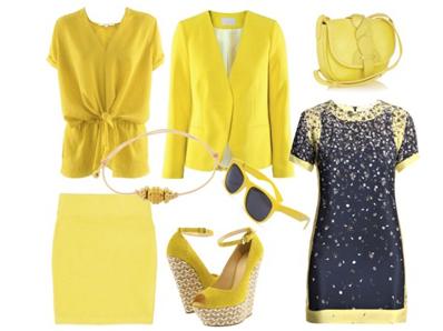 أزياء اللون الاصفر 2012