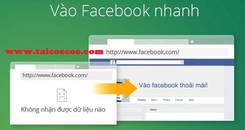 Cách vào Facebook nhanh nhất với trình duyệt Cốc Cốc