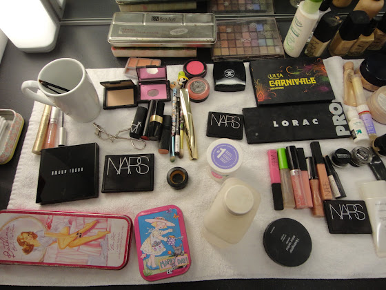 Make up shot in Behind the scenes of Kohler Torsion Ad styled by Jessica Moazami
