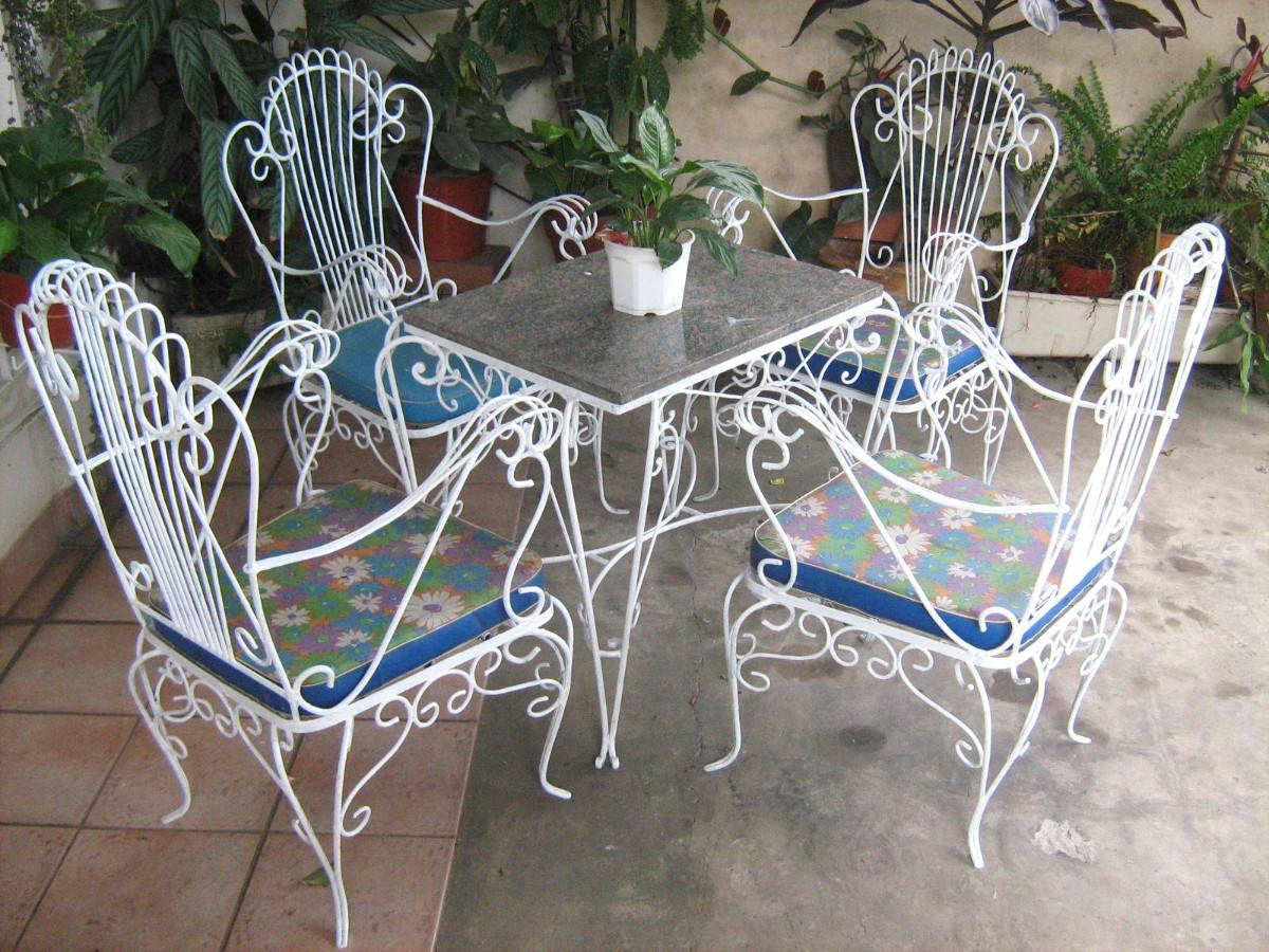 So glittering la silla de hierro forjado - Mesas de hierro para jardin ...