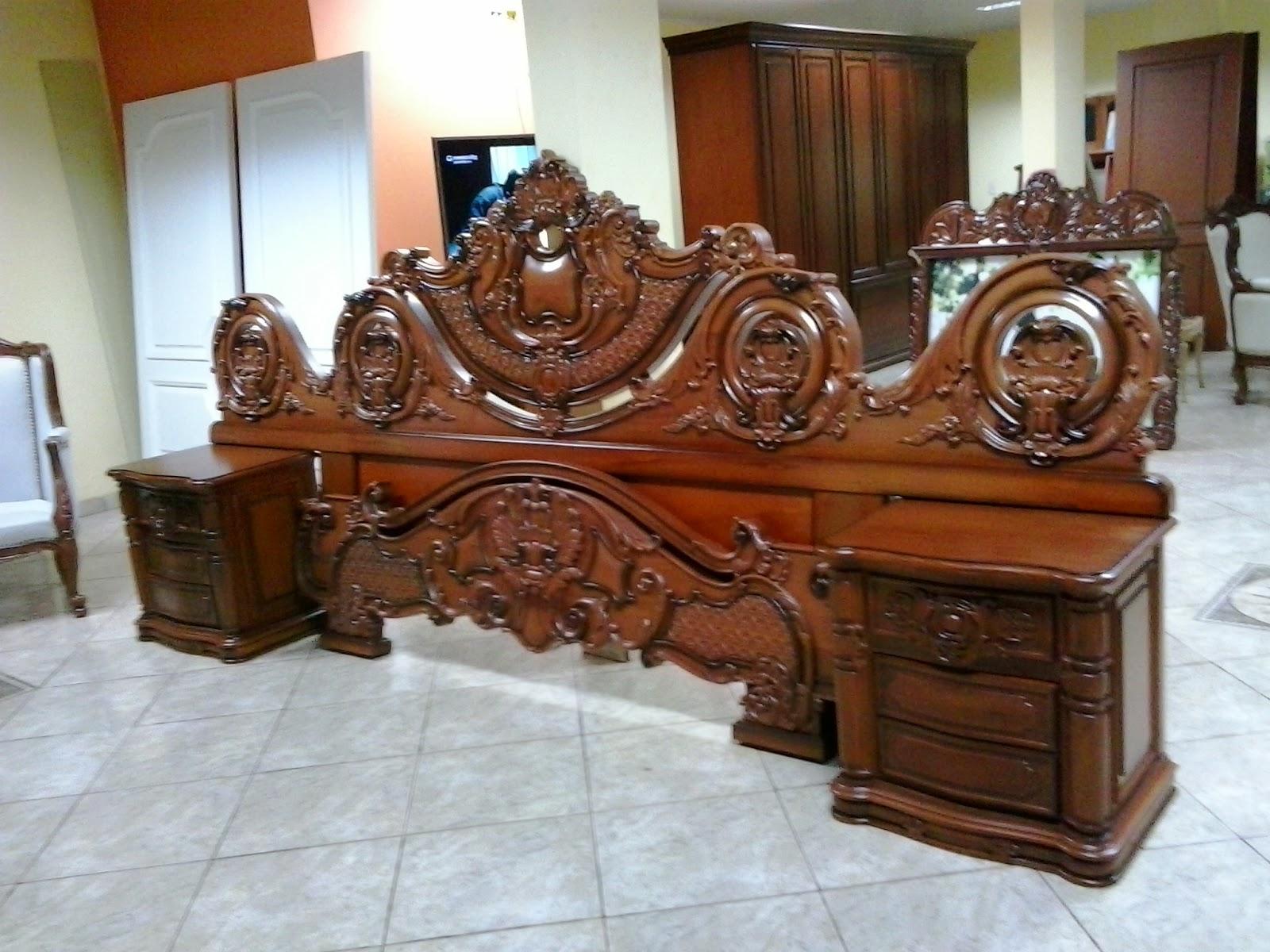 Arte en madera super cama tallada a mano for Muebles tallados en madera