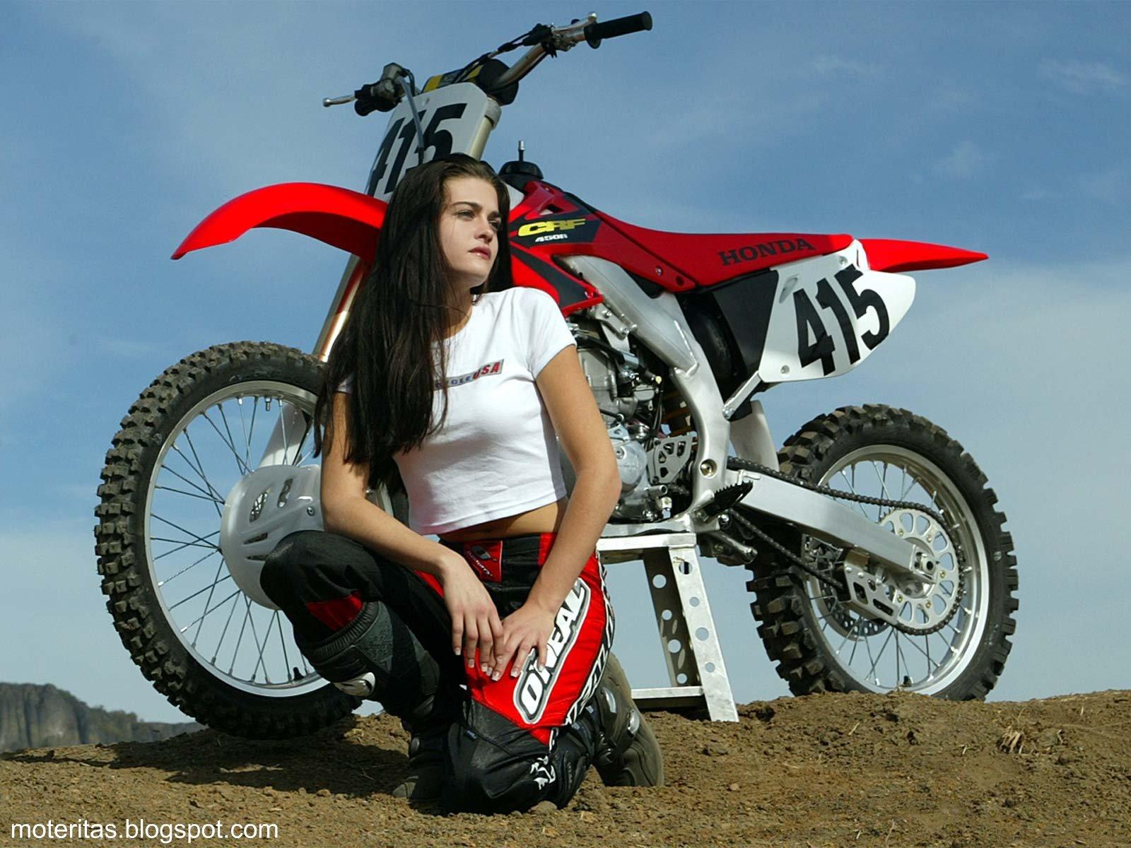 Motos Mujeres Motocross Honda 450 Wallpaper IPhone Lifan