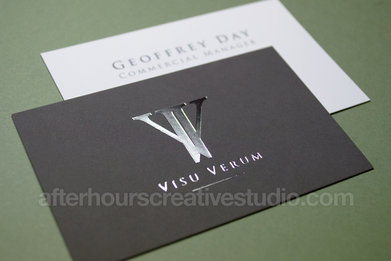 Luxury Business Cards Foil Stamped Velvet Laminated