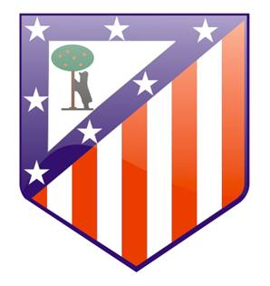 membuat logo atletico madrid