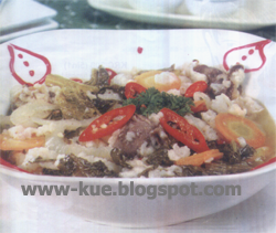 Menu Daging Sayur Asin