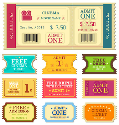 tickets entradas cine vector