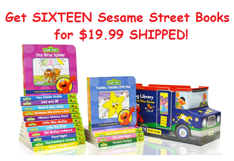 Get SIXTEEN Sesame Street Books for $19.99 SHIPPED!