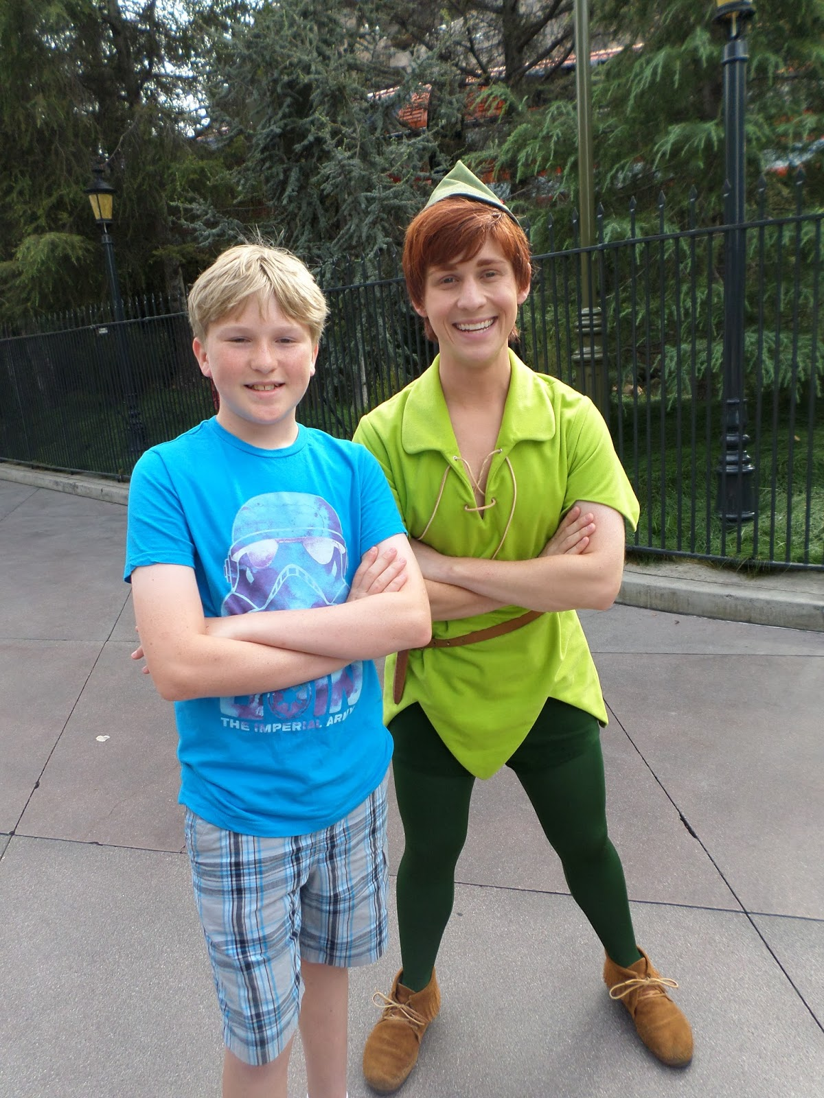 Williams family disneyland character interactions peter pan was offering photos and autographs near matterhorn bobsleds kristyandbryce Image collections