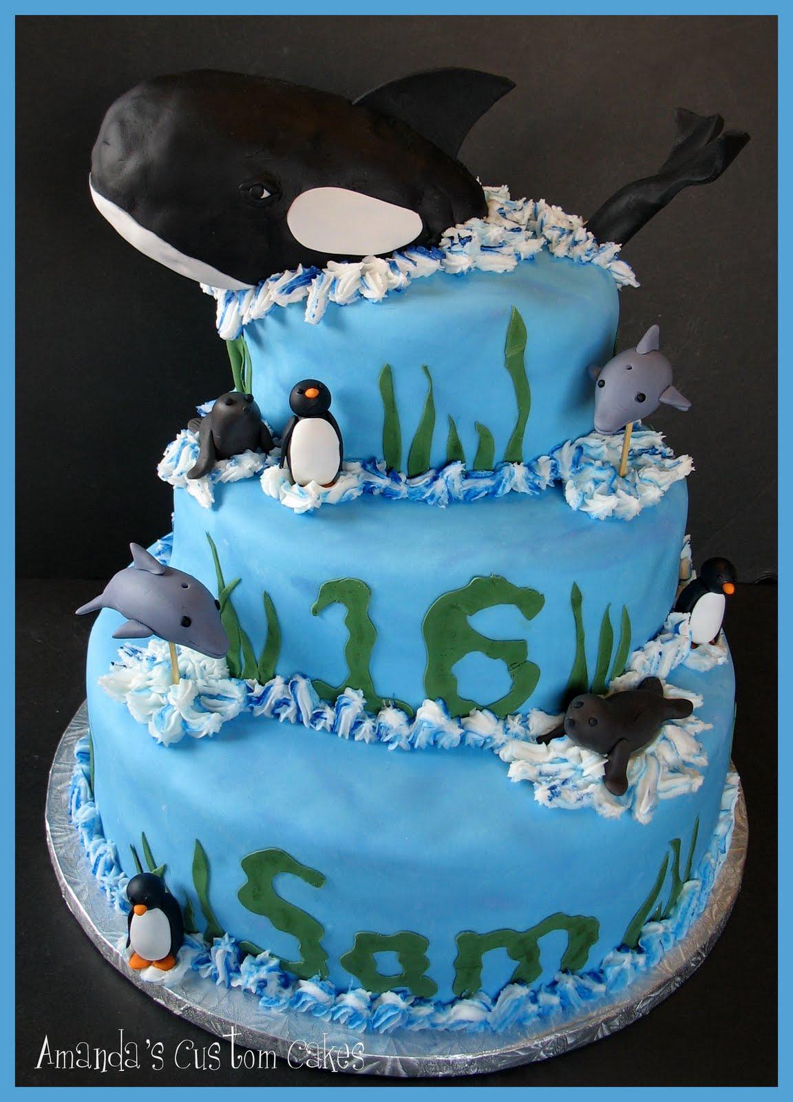 Seaworld Birthday Cake