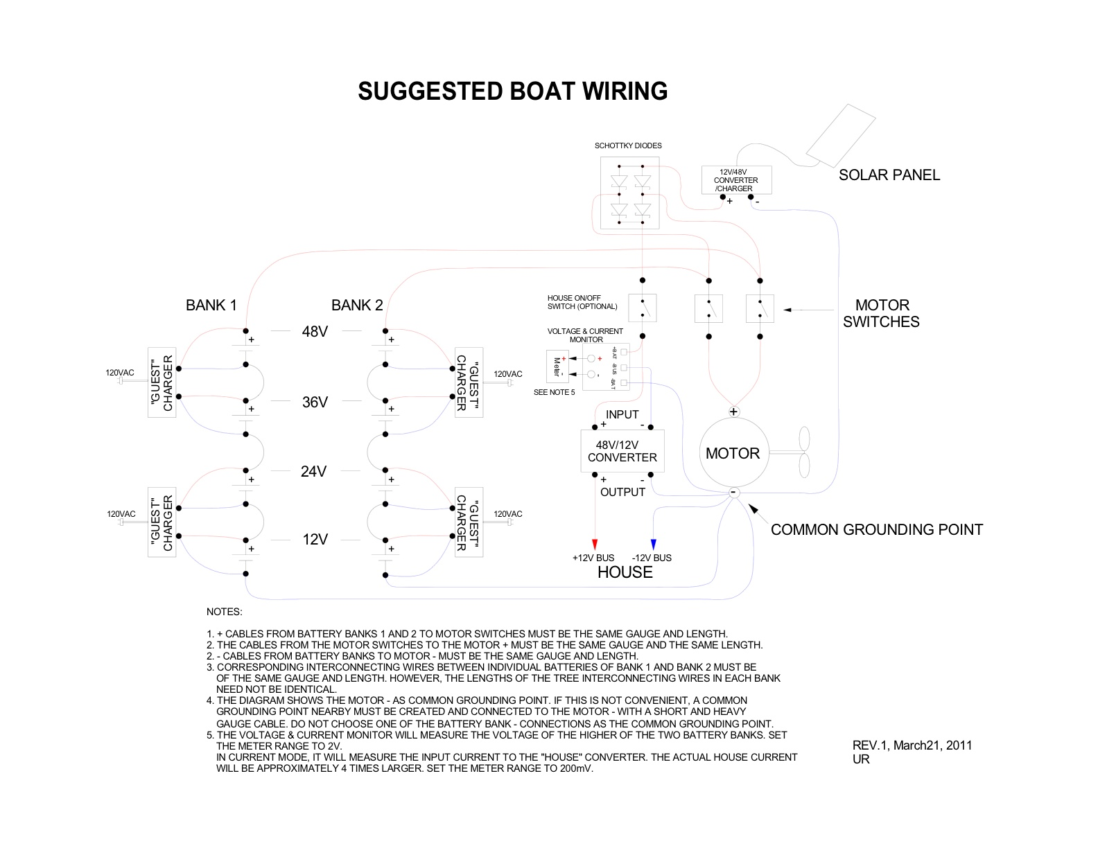 Battery Isolator Switch Wiring Diagram. Boat Building Standards ...