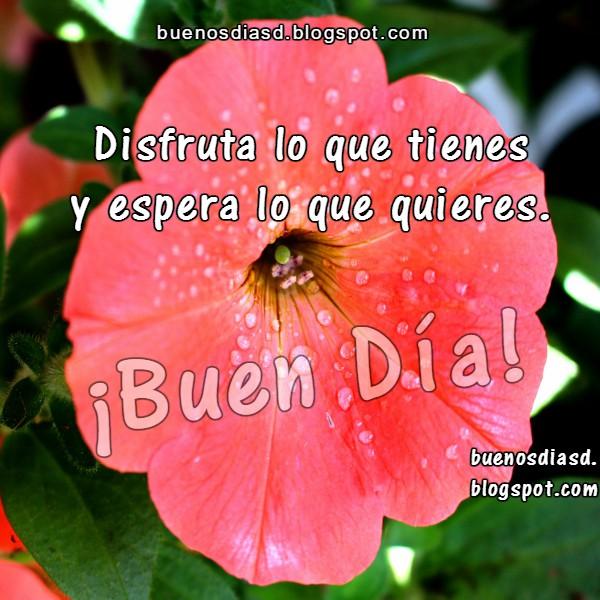 Pensamientos de Aliento y buenos días. Frases, saludos, imagen de buen día para amigos, familia por Mery Bracho.