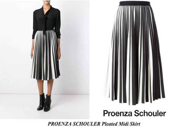 Queen Rania's PROENZA SCHOULER Pleated Midi Skirt