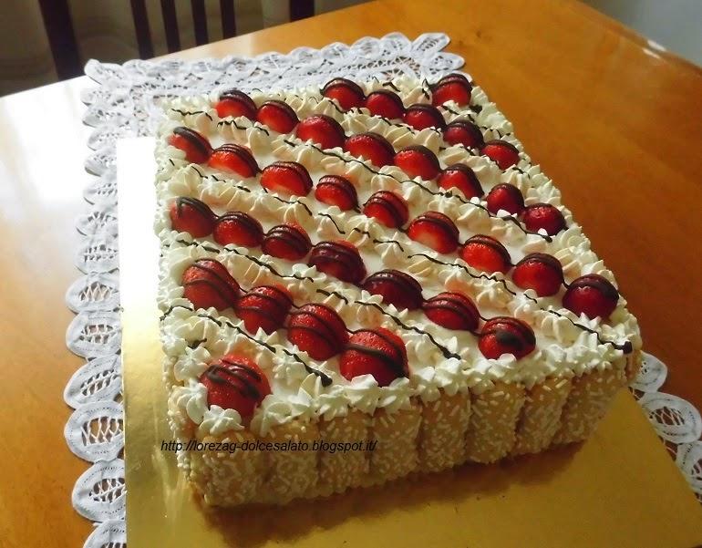 Le torte di lorena e non solo torta con fragole for Decorazioni torte con fragole e cioccolato