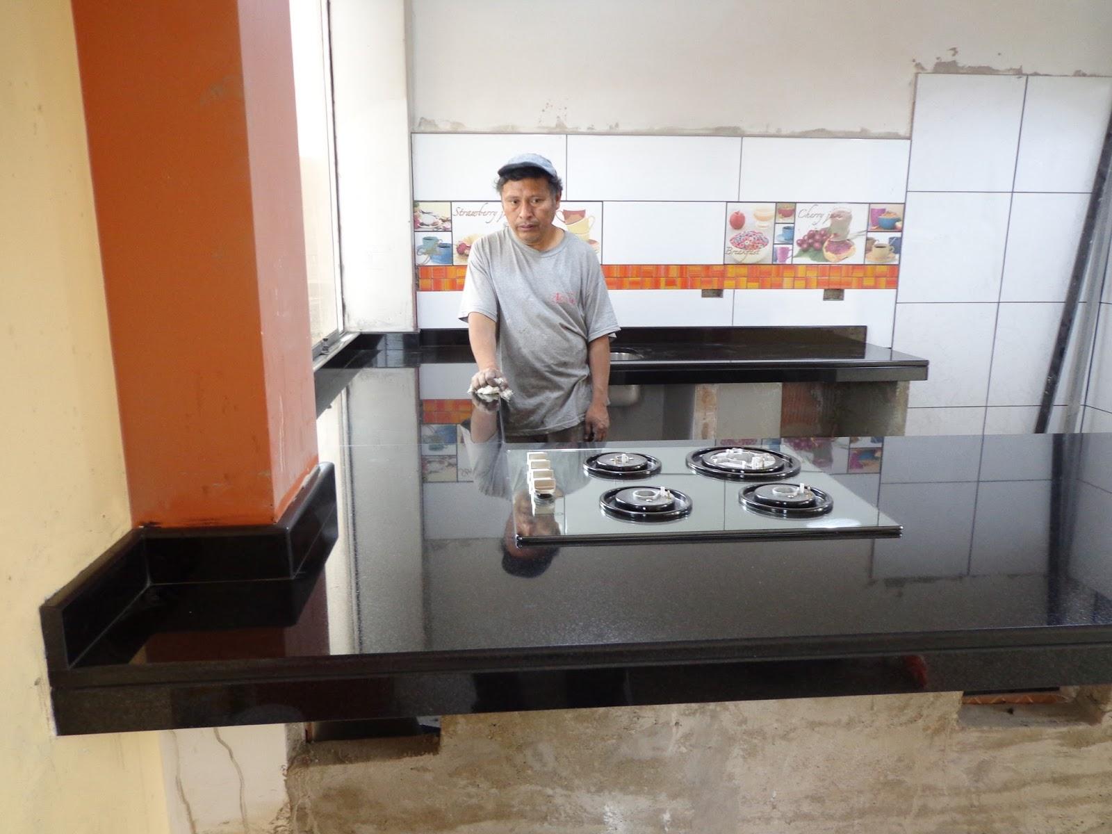 Cocinas vitroceramicas empotradas granito marmol lima - Marmol en cocina ...