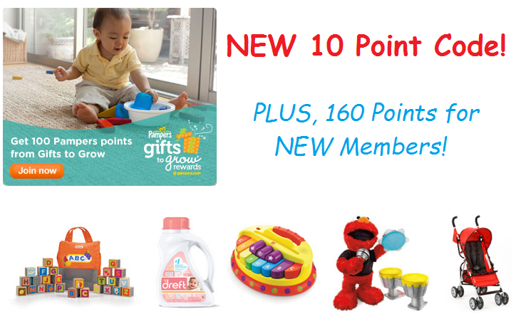 New 10 Point Pampers Gifts To Grow Code (160 Points for New Members!)