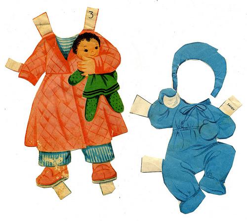 hacer muñecas de papel