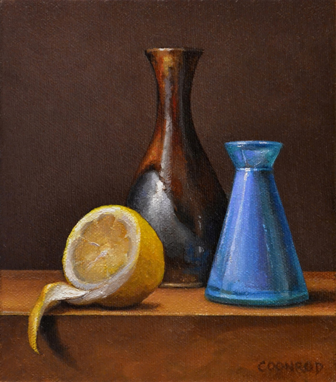 Trish coonrods paintings lemon with 2 vases lemon with 2 vases reviewsmspy