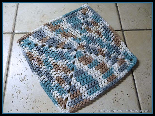 modified easy ombre dishcloth