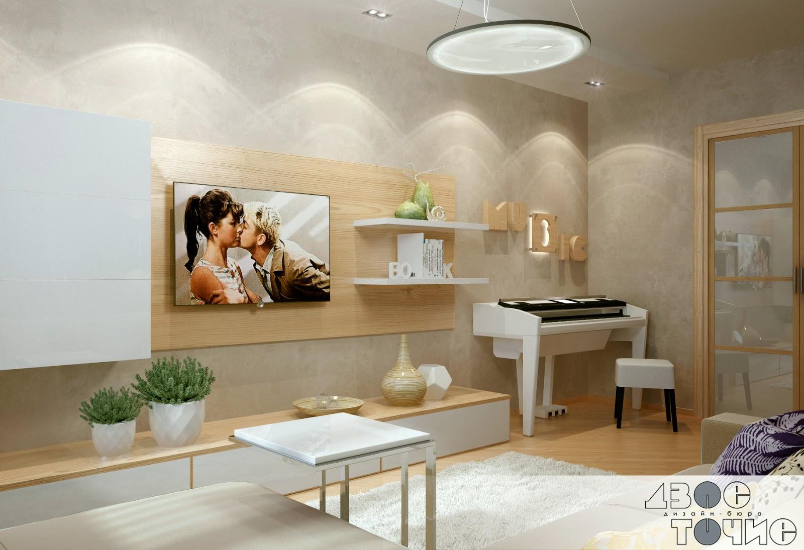 Стенка в гостиную с пианино