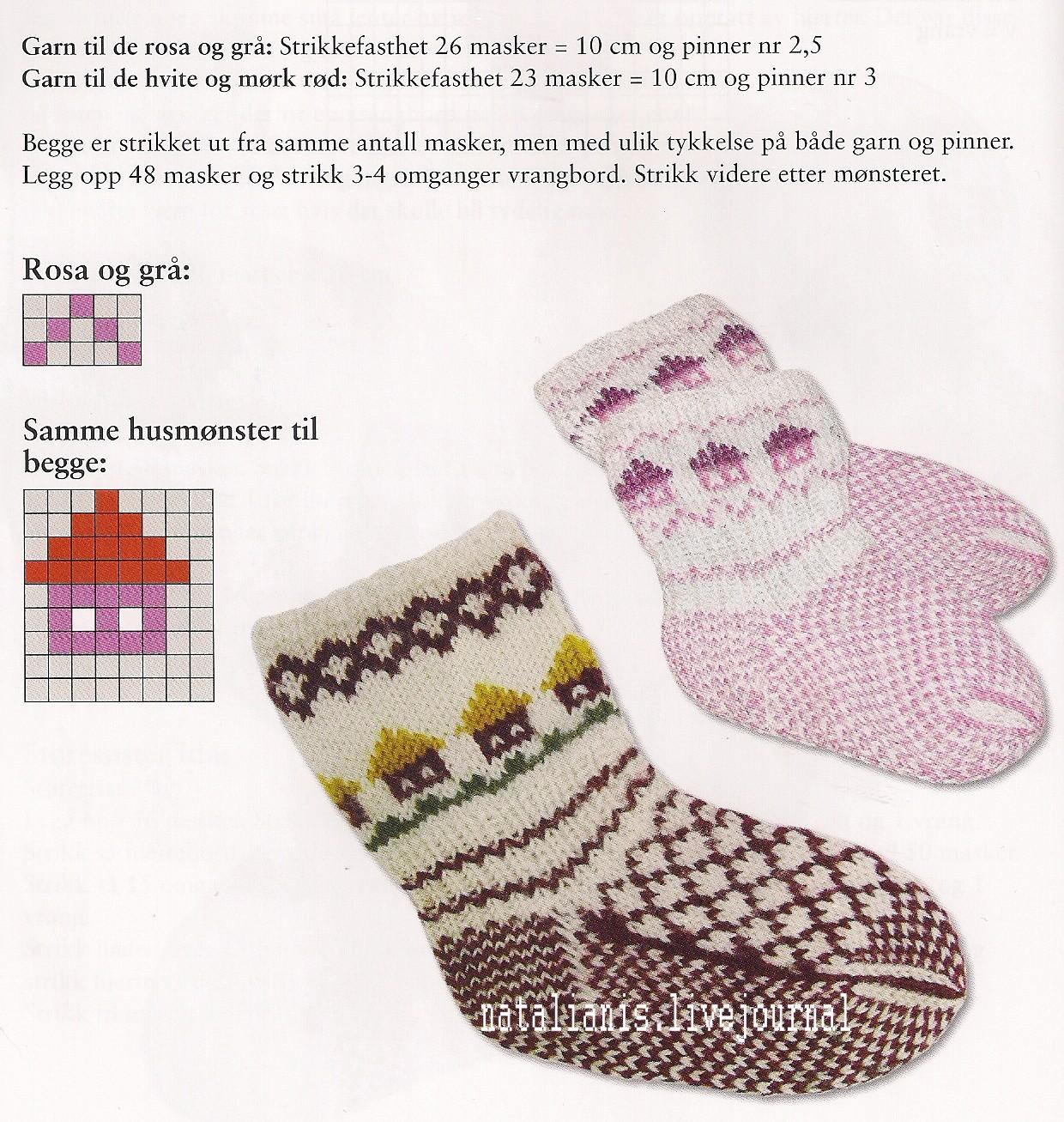 Вязание носок на спицах с узорами фото