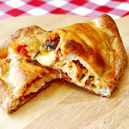 Roasted Tomato and Grilled Chicken Calzones