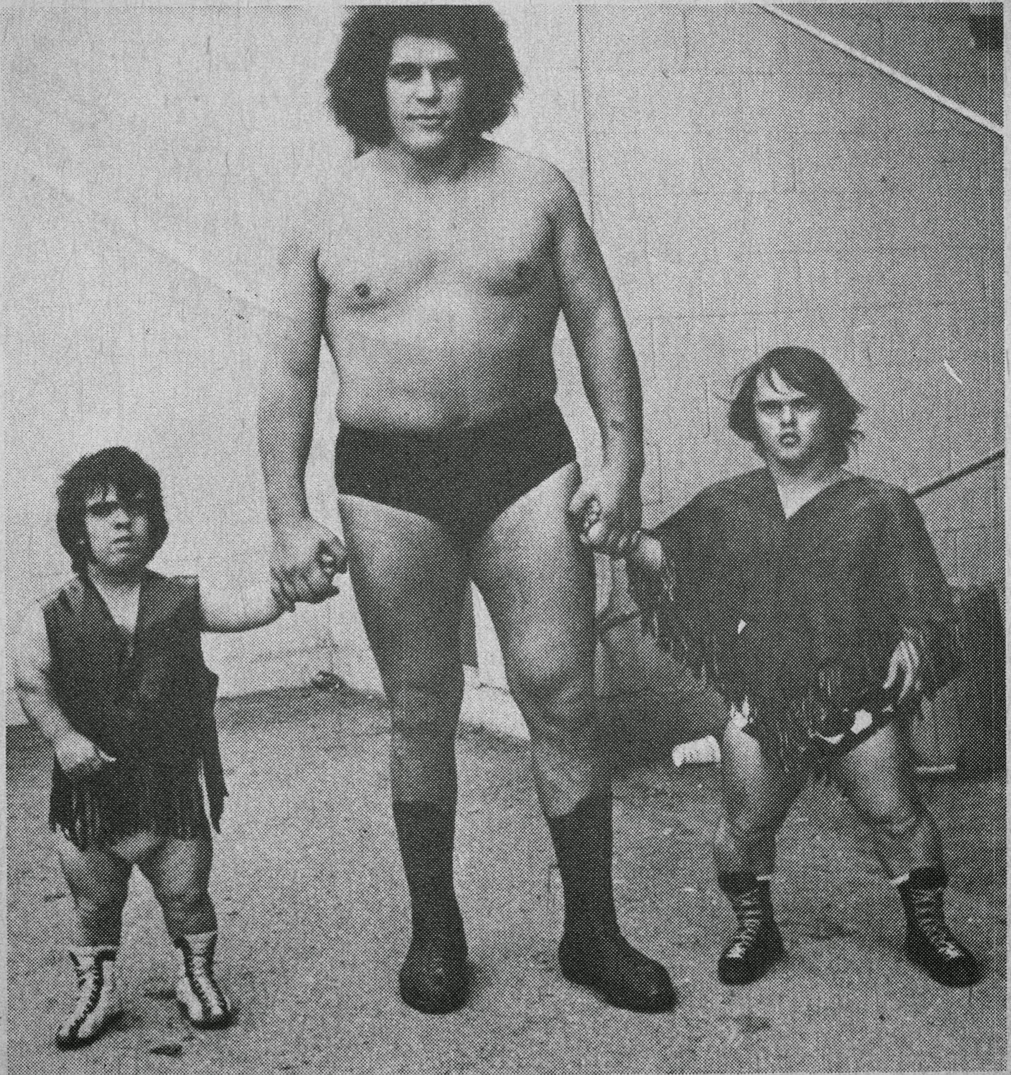 Andre midget+wrestlers Tom Thumb