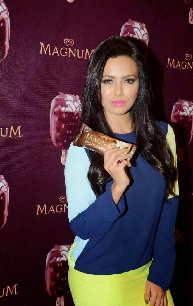 Sana Khan Stills At New Magnum Ice Cream Launch