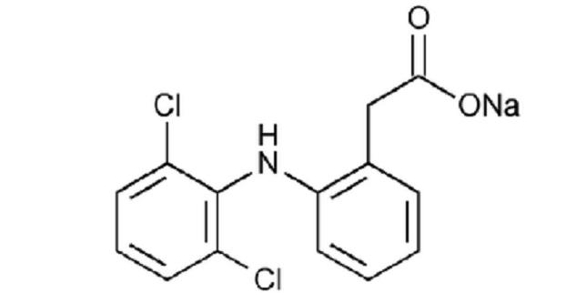 Struktur kimia natrium diklofenak