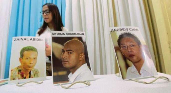 Banduan pesalah dadah menyanyi sebelum ditembak mati di Indonesia