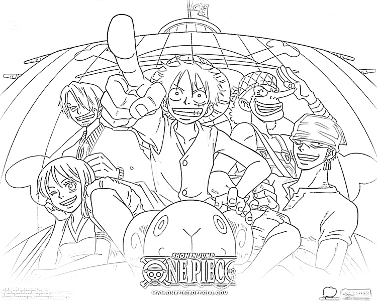 One Piece Coloring Pages : キャラクターぬりえプリントアウト : プリント