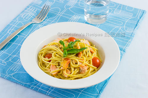 三文魚意大利粉配檸檬忌廉汁 Salmon Spaghetti with Creamy Lemon Sauce02
