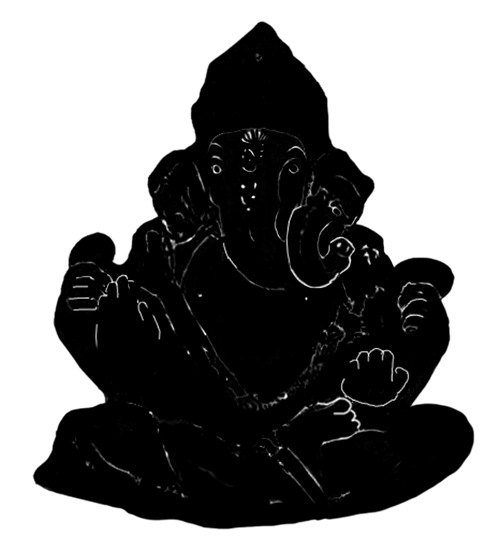 Silhouette of a Ganesh idol