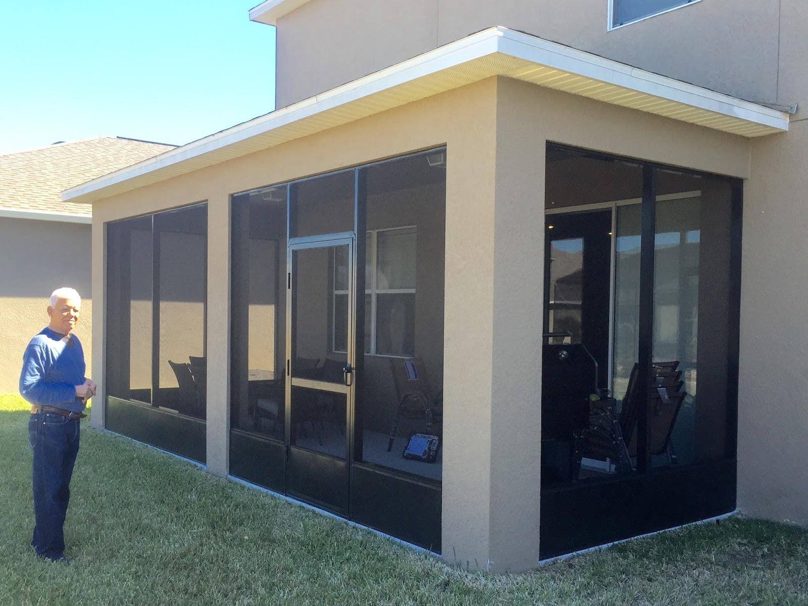 Enclose patio
