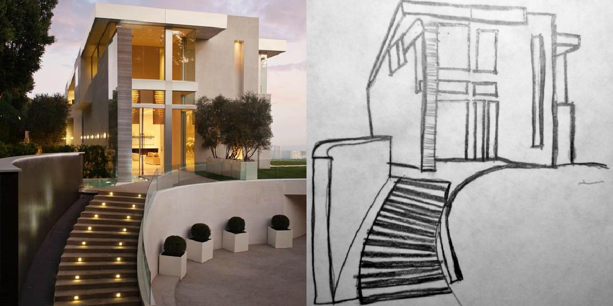 Bosquejos a mano alzada m a r i a t e r e s a rp for Obra arquitectonica definicion