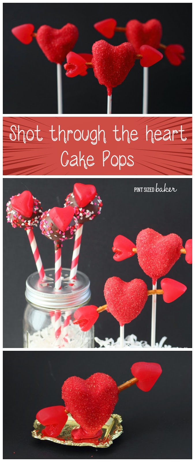 Give your Valentine something to remember! Shooting arrow cake pops are a sure fire way to his heart!