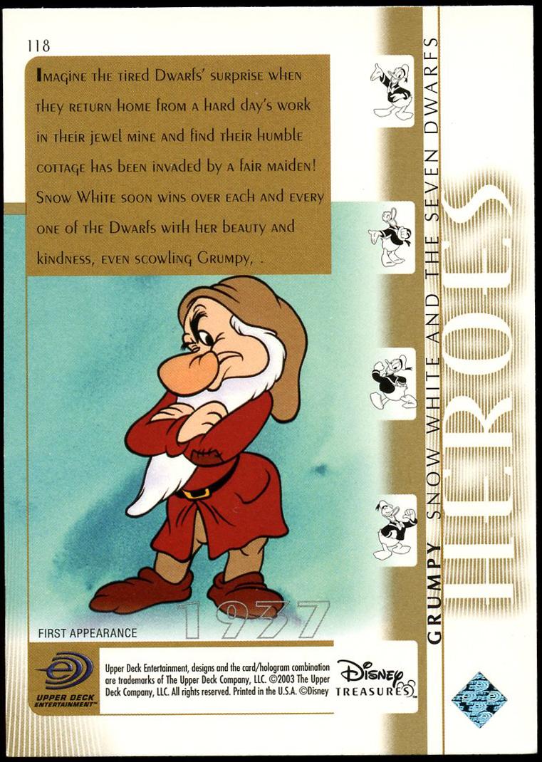 2003 Disney Treasures Trading Cards (Base Set)