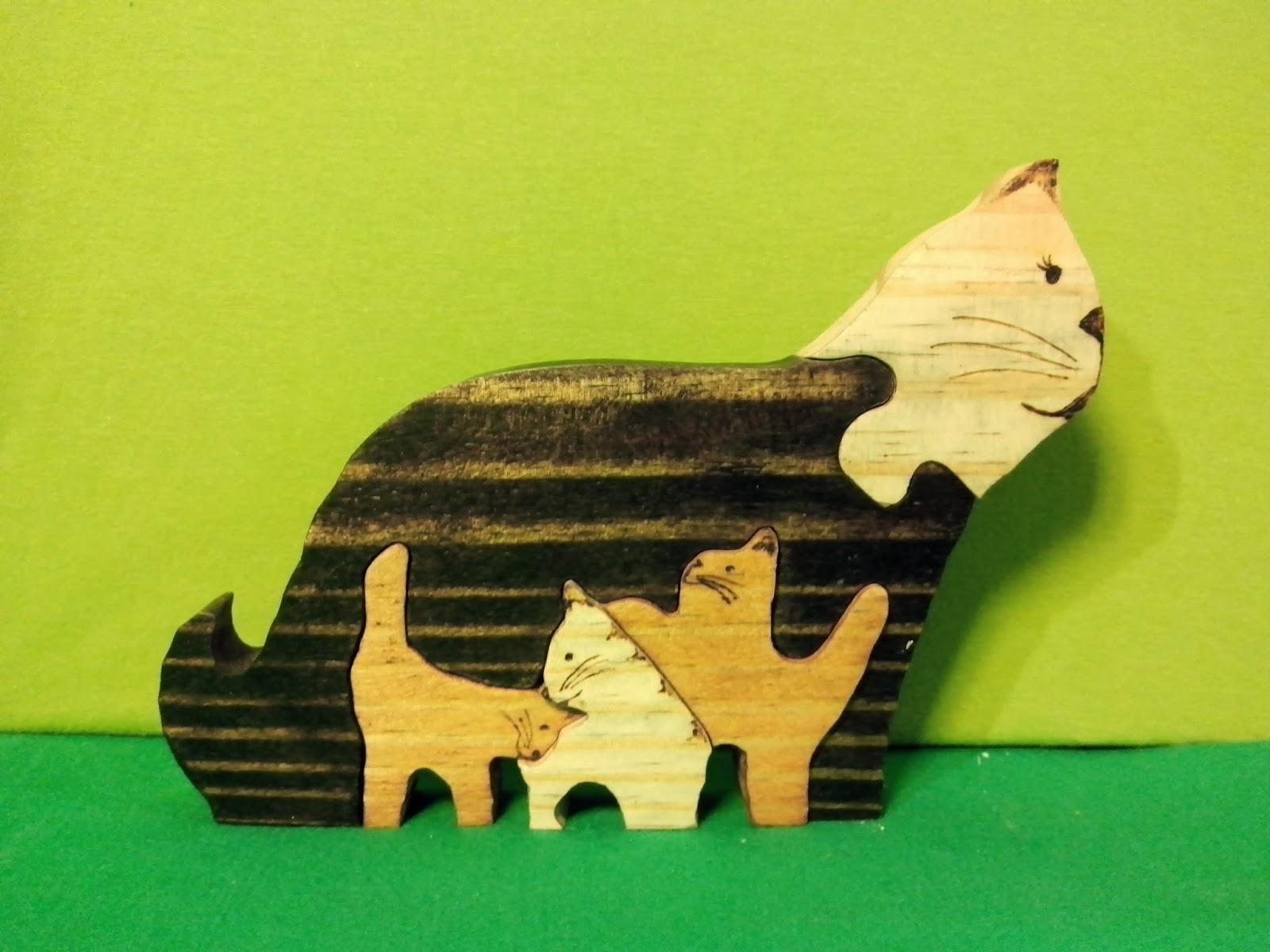 quebra cabeça gato brasilia madeira df
