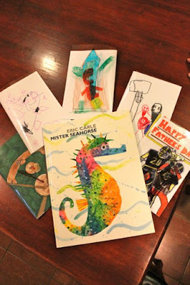 Father's Day Cards inspired by Mister Seahorse by Eric Carle via www.happybirthdayauthor.com