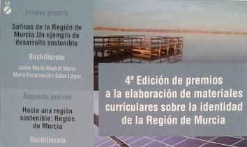 PRIMER PREMIO 4ª EDICIÓN DE MATERIALES CURRICULARES SOBRE LA IDENTIDAD DE LA REGIÓN DE MURCIA