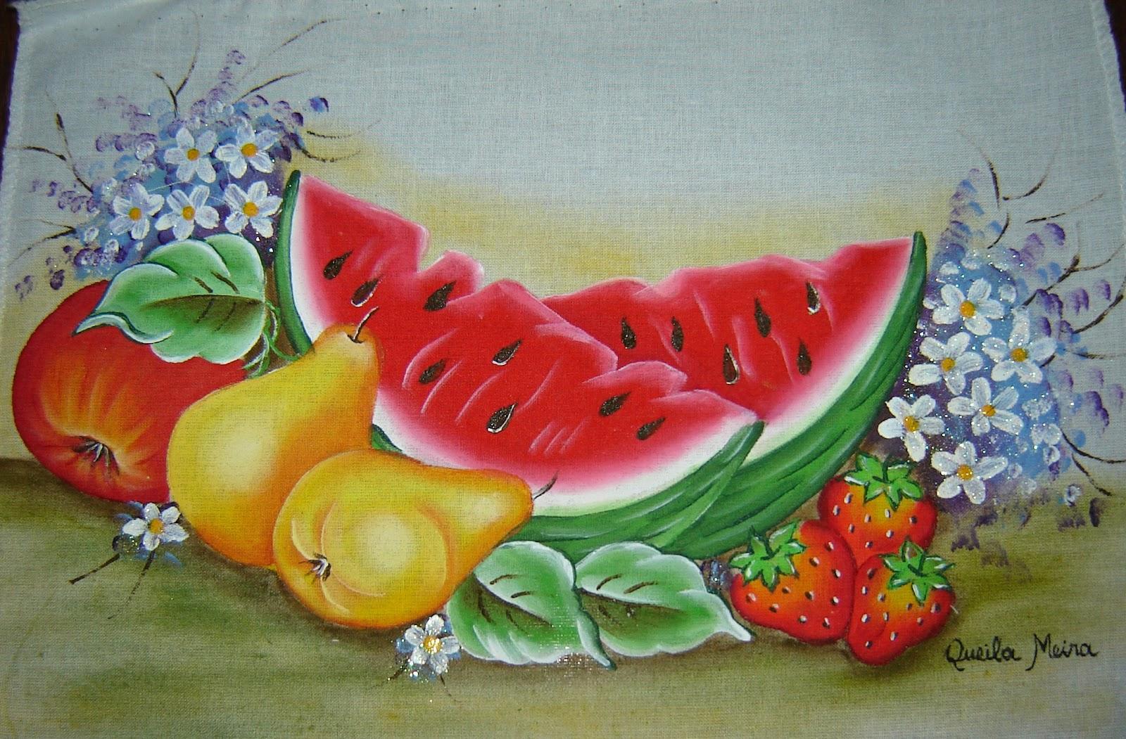 Queila pinturas pintura de frutas - Pinturas para pintar tela ...
