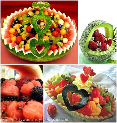 Кошница за плодове от диня или пъпеш