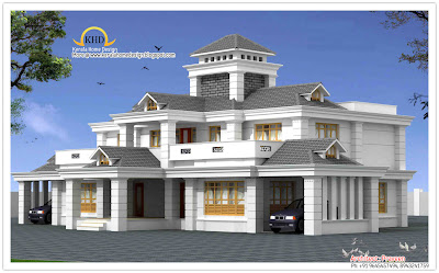 469 square meter 5050 luxury home design elevation october - Luxury Home Designs Plans